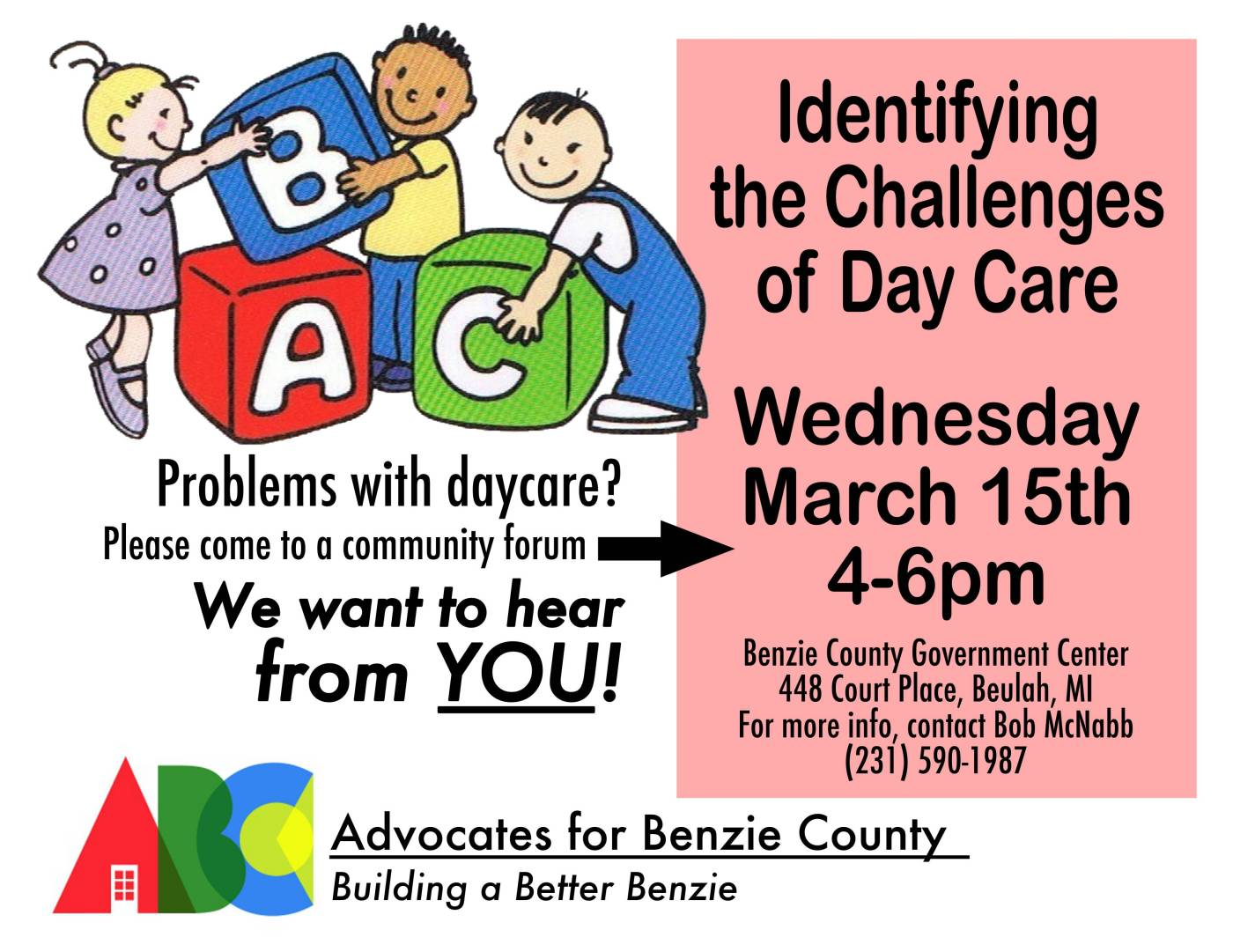 Michigan benzie county benzonia - Day Care And Child Care Identifying The Challenges